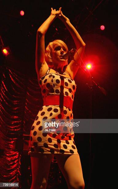 Gwenno Pipette of The Pipettes performs onstage at Shepherds Bush Empire on April 18 2007 in London England