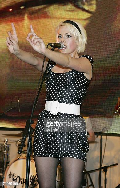 Gwenno Pippette of The Pipettes perform at the HMV on July 17 2006 in London England
