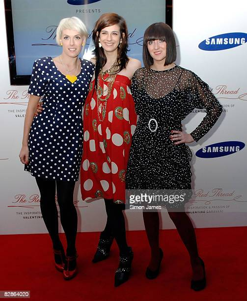 Gwenno Saunders and Ani Saunders of The Pipettes attend the Samsung Imagination Icon Series The Red Thread The Inspiration and Passion of Valentino...