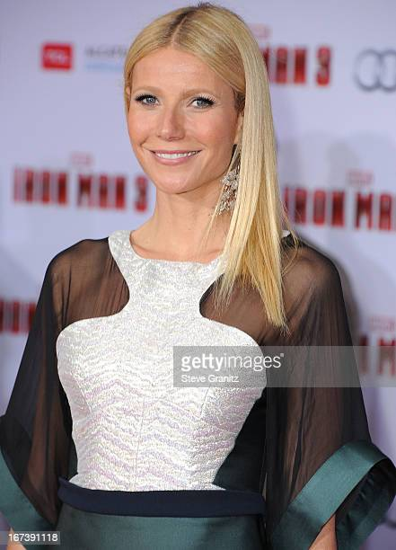 Gwenyth Paltrow arrives at the Iron Man 3 Los Angeles Premiere at the El Capitan Theatre on April 24 2013 in Hollywood California