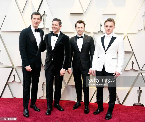 Gwilym Lee Allen Leech Joseph Mazzello and Ben Hardy attend the 91st Annual Academy Awards at Hollywood and Highland on February 24 2019 in Hollywood...