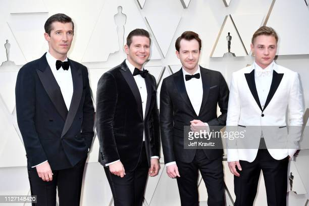 Gwilym Lee Allen Leech Joseph Mazzello and Ben Hardy attends the 91st Annual Academy Awards at Hollywood and Highland on February 24 2019 in...