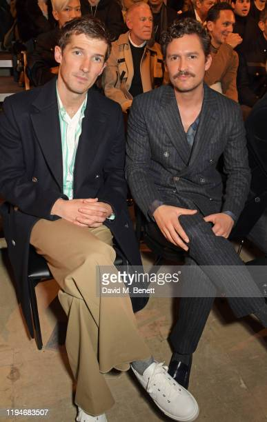 Gwilym Lee and Ben Aldridge attend the Hermes Menswear Fall/Winter 20202021 show as part of Paris Fashion Week on January 19 2020 in Paris France