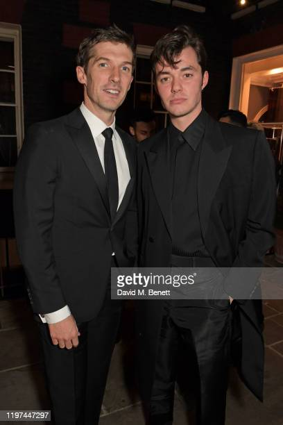 Gwilym Lee and Jack Bannon attend the dunhill Dylan Jones PreBAFTA party at dunhill Bourdon House on January 29 2020 in London England