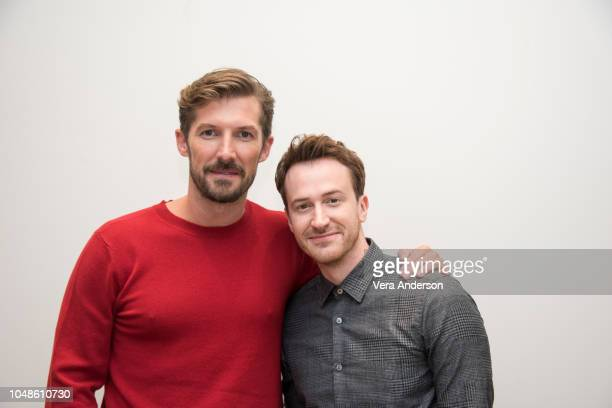 Gwilym Lee and Joseph Mazzello at the Bohemian Rhapsody Press Conference at the Four Seasons Hotel on October 8 2018 in Beverly Hills California