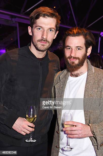 Gwilym Lee and Liam Bergin attend a cocktail party hosted by haircare brand John Frieda to celebrate the launch of their 2015 products at Oxo Tower...