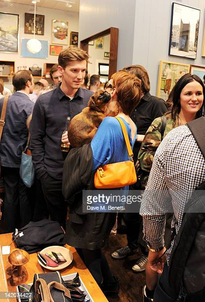 Gwilym Lee and Louise Donald attend the opening of Jack Spade's first UK store on March 29 2012 in London England
