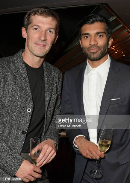Gwilym Lee and Nikesh Patel attend the launch of the MR PORTER charitable fund The MR PORTER Health In Mind Fund at Quaglino's on October 10 2019 in...