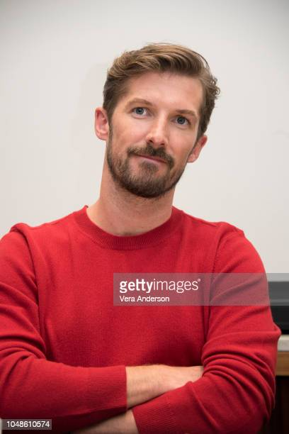 Gwilym Lee at the Bohemian Rhapsody Press Conference at the Four Seasons Hotel on October 8 2018 in Beverly Hills California