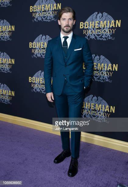 Gwilym Lee attends Bohemian Rhapsody New York premiere at The Paris Theatre on October 30 2018 in New York City