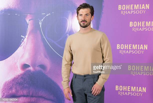 Gwilym Lee attends 'Bohemian Rhapsody' photocall at Villa Magna Hotel on September 14 2018 in Madrid Spain