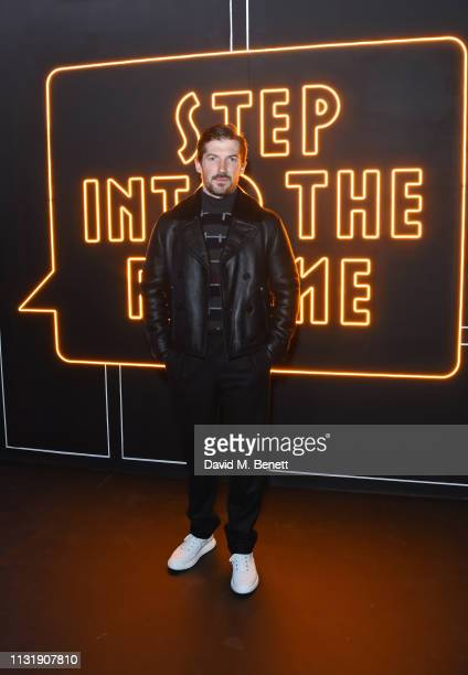 Gwilym Lee attends 'Hermes Step Into The Frame' at Nine Elms on March 21 2019 in London England