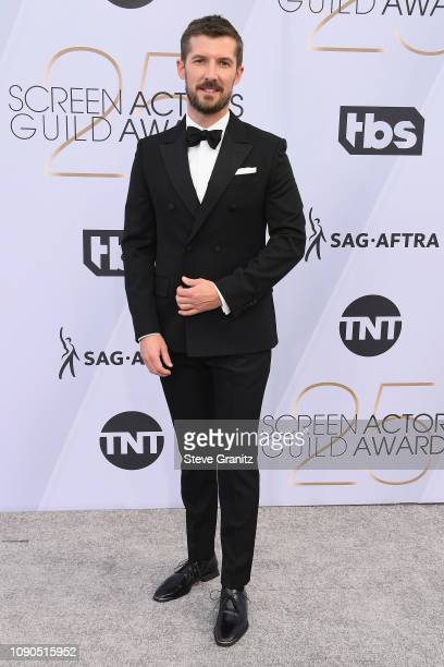 Gwilym Lee attends the 25th Annual Screen Actors Guild Awards at The Shrine Auditorium on January 27 2019 in Los Angeles California