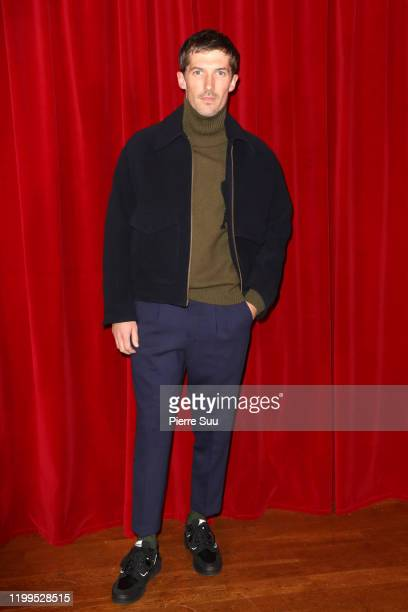 Gwilym Lee attends the Ami Alexandre Mattiussi Menswear Fall/Winter 20202021 show as part of Paris Fashion Week on January 14 2020 in Paris France