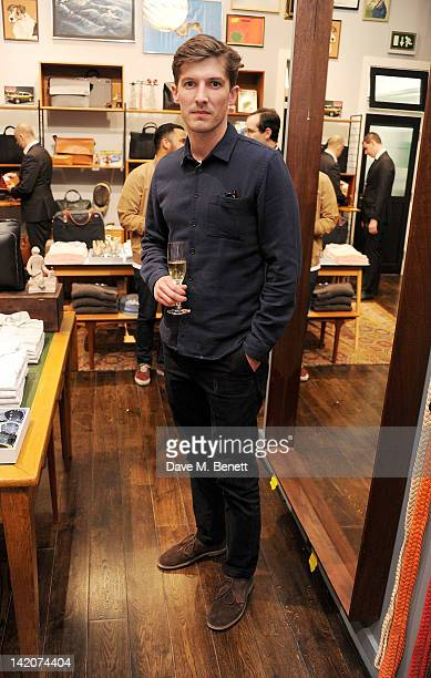 Gwilym Lee attends the opening of Jack Spade's first UK store on March 29 2012 in London England