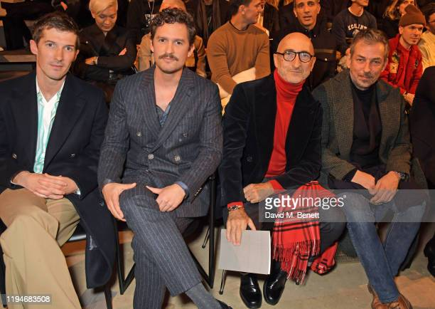 Gwilym Lee Ben Aldridge Pierre Hardy and guest attend the Hermes Menswear Fall/Winter 20202021 show as part of Paris Fashion Week on January 19 2020...