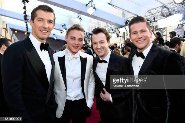 Gwilym Lee Ben Hardy Joseph Mazzello and Allen Leech attend the 91st Annual Academy Awards at Hollywood and Highland on February 24 2019 in Hollywood...