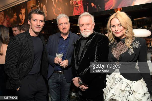 Gwilym Lee guest Roger Taylor and Sarina Potgieter are seen as Vanity Fair and Genesis celebrate the cast of Bohemian Rhapsody on February 22 2019 in...