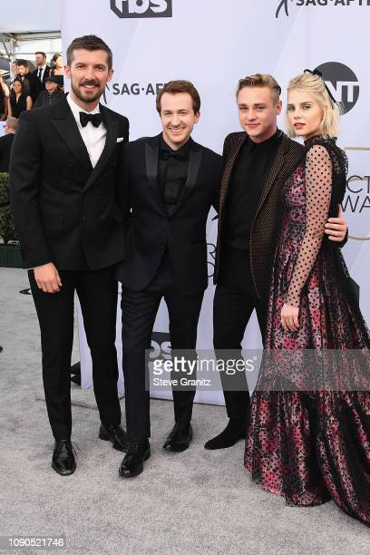Gwilym Lee Joseph Mazzello Ben Hardy and Lucy Boynton attend the 25th Annual Screen ActorsGuild Awards at The Shrine Auditorium on January 27 2019...