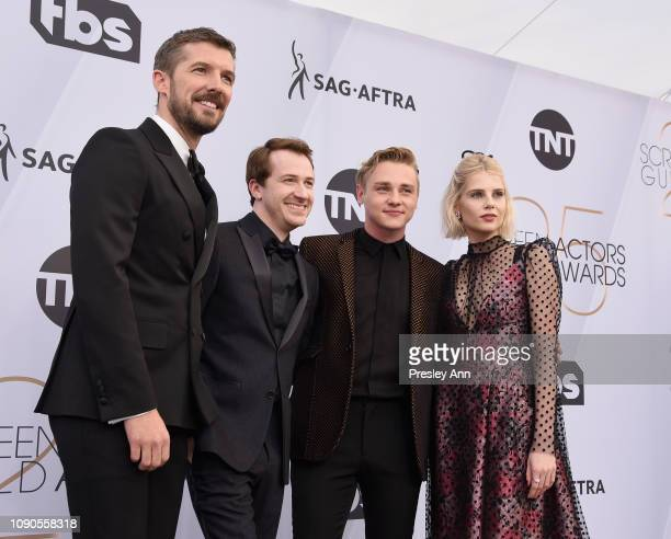 Gwilym Lee Joseph Mazzello Ben Hardy Lucy Boynton attend the 25th Annual Screen ActorsGuild Awards at The Shrine Auditorium on January 27 2019 in...