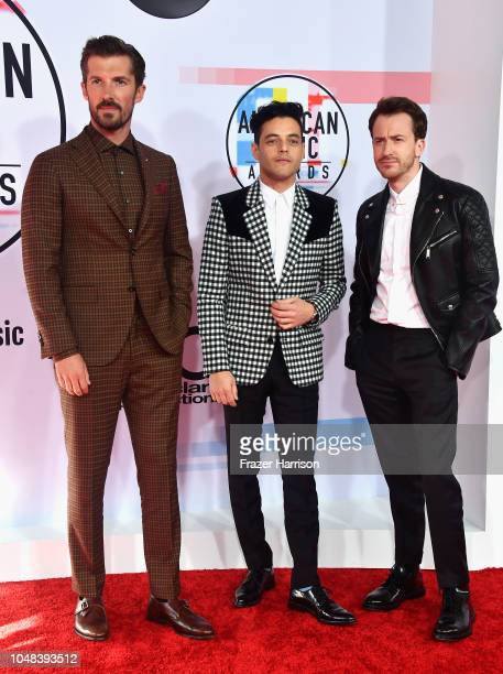 Gwilym Lee Rami Malek and Joseph Mazzello attend the 2018 American Music Awards at Microsoft Theater on October 9 2018 in Los Angeles California