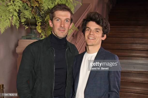 Gwilym Lee wearing Paul Smith and Edward Bluemel wearing Paul Smith attend an intimate dinner in celebration of 50 years of Paul Smith at Le Trianon...