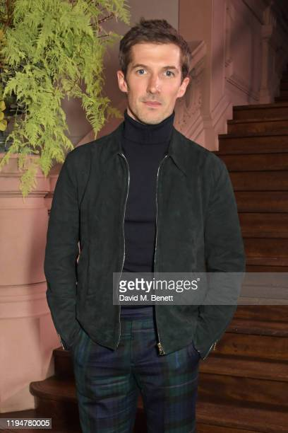Gwilym Lee wearing Paul Smith attends an intimate dinner in celebration of 50 years of Paul Smith at Le Trianon on January 19 2020 in Paris France