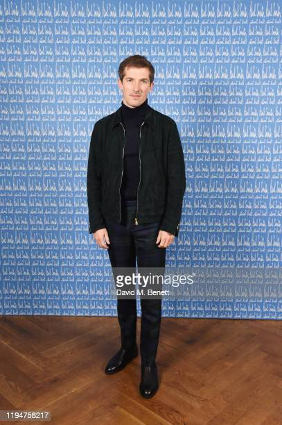Gwilym Lee wearing Paul Smith attends the Paul Smith AW20 50th Anniversary show as part of Paris Fashion Week on January 19 2020 in Paris France