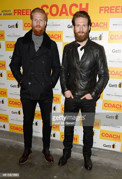 Gwilym Pugh and Craig McGinlay attend the launch of Coach Magazine a brand new free health and fitness magazine for men at the Vaults on October 6...