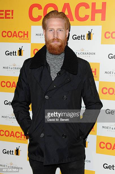 Gwilym Pugh attends the launch of Coach Magazine a brand new free health and fitness magazine for men at the Vaults on October 6 2015 in London...