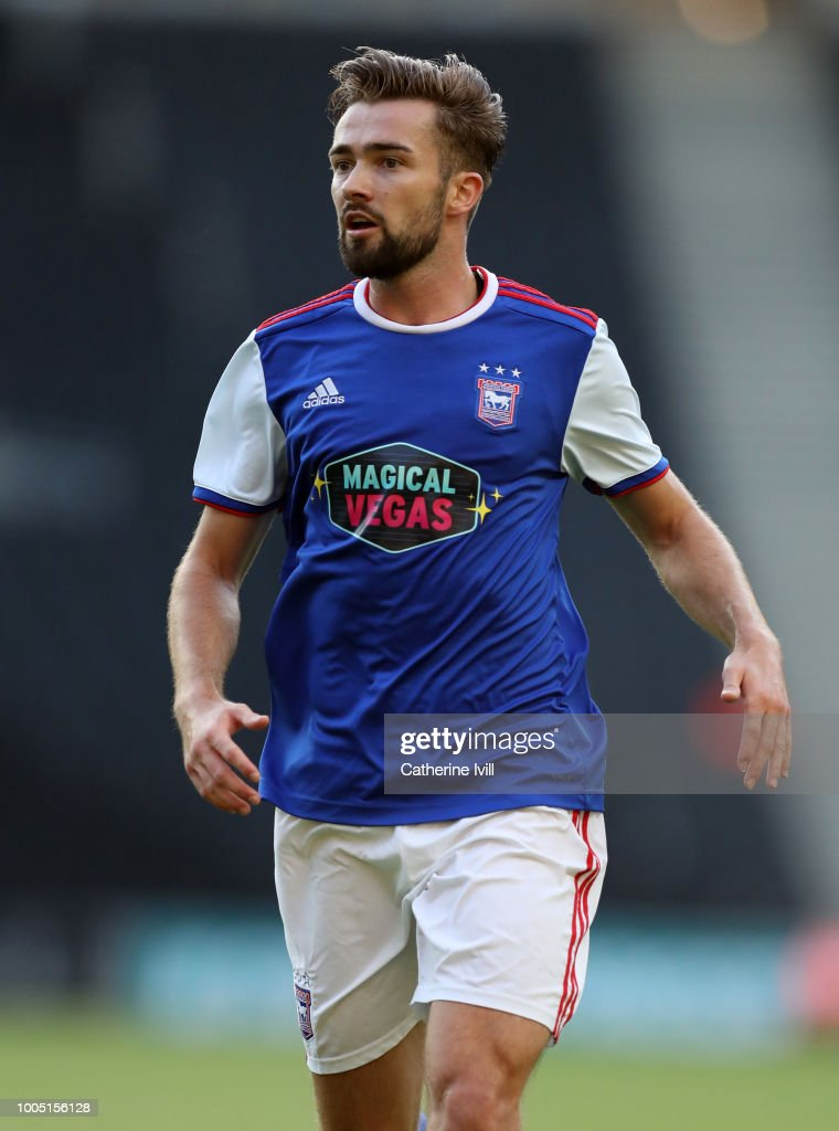 Gwion Edwards of Ipswich Town during the Pre Season Friendly between Milton Keynes Dons and Ipswich Town at StadiumMK on July 24, 2018 in Milton Keynes, England.