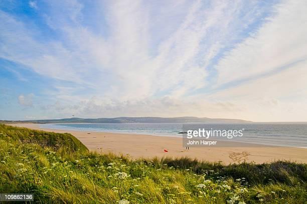gwithian beach, cornwall - グイチアン ストックフォトと画像