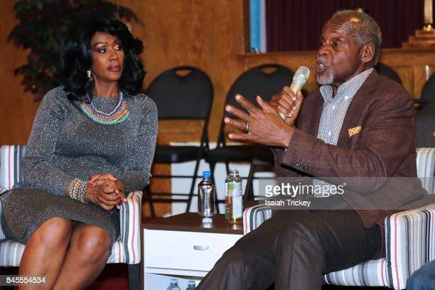 Gwyn Chapman and Danny Glover attend An Evening With Actor And Activist Danny Glover at First Baptist Church on September 10 2017 in Toronto Canada