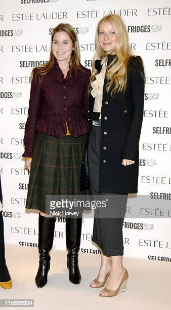 Gwyneth Paltrow and Aerin Lauder during Estee Lauder Pleasures 10th Anniversary Launch and Appearance by Gwyneth Paltrow at Selfridges in London...