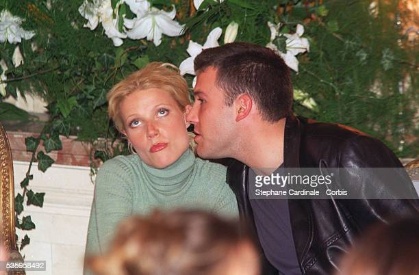 Gwyneth Paltrow and Ben Affleck attended the fashion show.