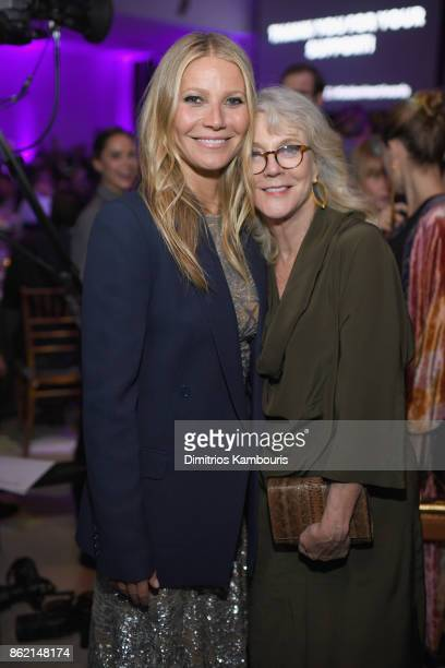 Gwyneth Paltrow and Blythe Danner attend the 11th Annual Golden Heart Awards benefiting God's Love We Deliver on October 16 2017 in New York City