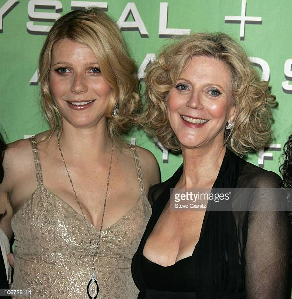 Gwyneth Paltrow and Blythe Danner during 'A Family Affair Women in Film Celebrates the Paltrow Family' with 2004 Crystal Lucy Awards Arrivals at The...