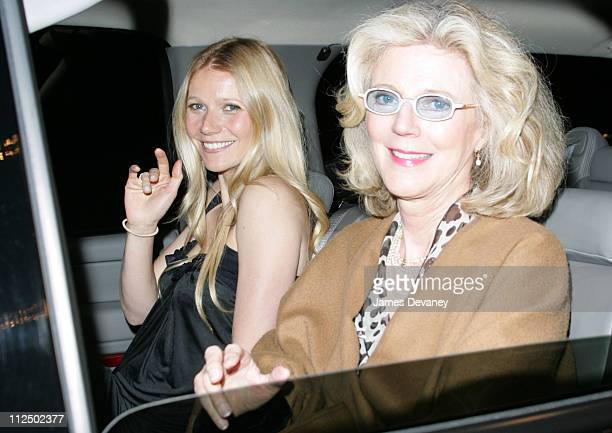 Gwyneth Paltrow and Blythe Danner during Gwyneth Paltrow and Blythe Danner Sighting in New York City May 4 2005 at The Al Hirshfeld Theater in New...