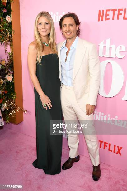 Gwyneth Paltrow and Brad Falchuk attend Netflix's The Politician Season One Premiere at DGA Theater on September 26 2019 in New York City