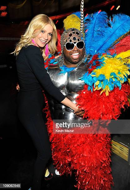 Gwyneth Paltrow and Cee Lo Green attends The 53rd Annual GRAMMY Awards held at Staples Center on February 13, 2011 in Los Angeles, California.