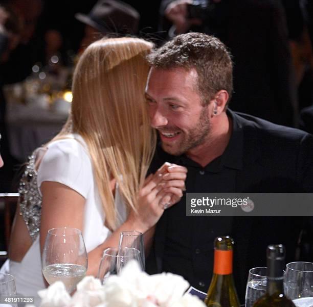 Gwyneth Paltrow and Chris Martin attend the 3rd annual Sean Penn Friends HELP HAITI HOME Gala benefiting J/P HRO presented by Giorgio Armani at...
