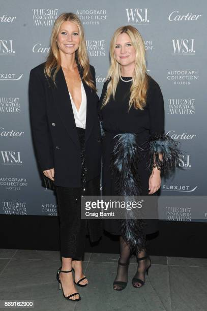 Gwyneth Paltrow and Editor in Chief of WSJ Magazine Kristina O'Neill attends the WSJ Magazine 2017 Innovator Awards at MOMA on November 1 2017 in New...