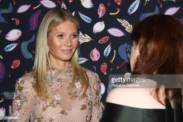 Gwyneth Paltrow and Glenda Adrianne Bailey attends the Harper's Bazaar Exhibition as part of the Paris Fashion Week Womenswear Fall/Winter 2020/2021...