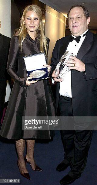 Gwyneth Paltrow And Harvey Weinstein The 50th Anniversary Gala Of The National Film Theatre At The National Film Theatre London