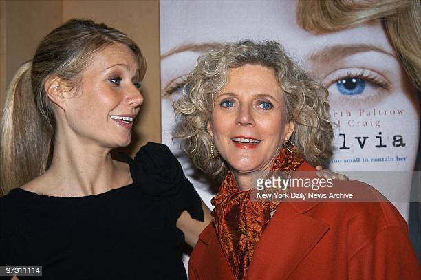 Gwyneth Paltrow and her mother Blythe Danner are on hand at the Tribeca Screening Room for a special screening of Sylvia Paltrow stars as poet Sylvia...