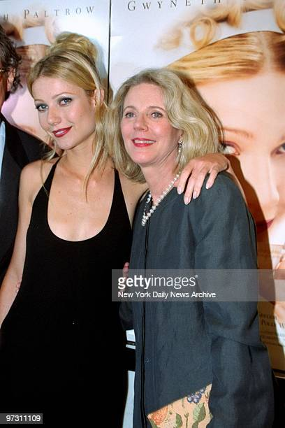 Gwyneth Paltrow and her mother Blythe Danner arrive at the Paris Theater for the premiere of Emma Paltrow stars in the movie