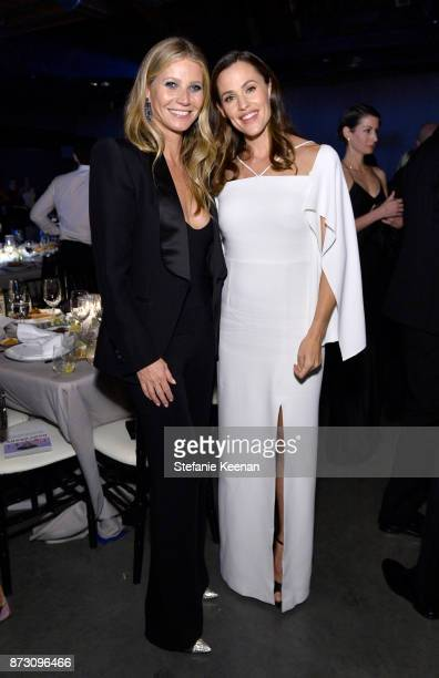 Gwyneth Paltrow and Jennifer Garner attend The 2017 Baby2Baby Gala presented by Paul Mitchell on November 11 2017 in Los Angeles California
