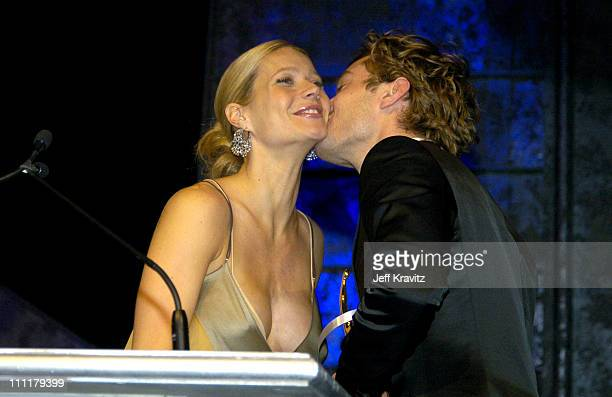 Gwyneth Paltrow and Jude Law during 2004 ShoWest Awards Night Backstage and Show at Bally's Paris Hotel in Las Vegas Nevada United States