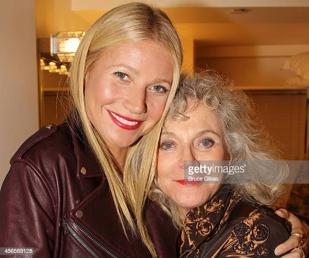 Gwyneth Paltrow and mother Blythe Danner pose backstage during the opening night of The Country House on Broadway at Manhattan Theater Club at The...