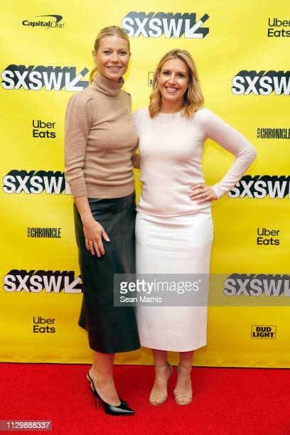 Gwyneth Paltrow and Poppy Harlow attend Featured Session Gwyneth Paltrow with Poppy Harlow during the 2019 SXSW Conference and Festivals at Austin...